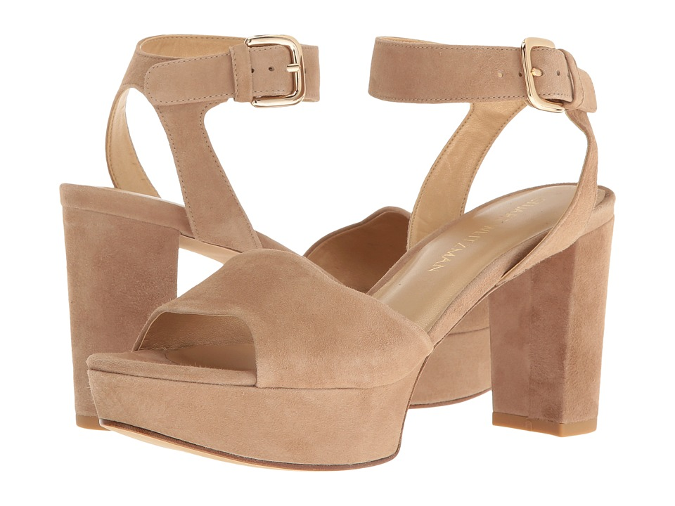 Stuart Weitzman Realdeal (Mojave Suede) Wedge Shoes