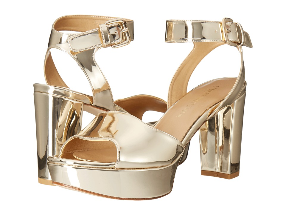 Stuart Weitzman Realdeal (Pale Gold Glass) Wedge Shoes