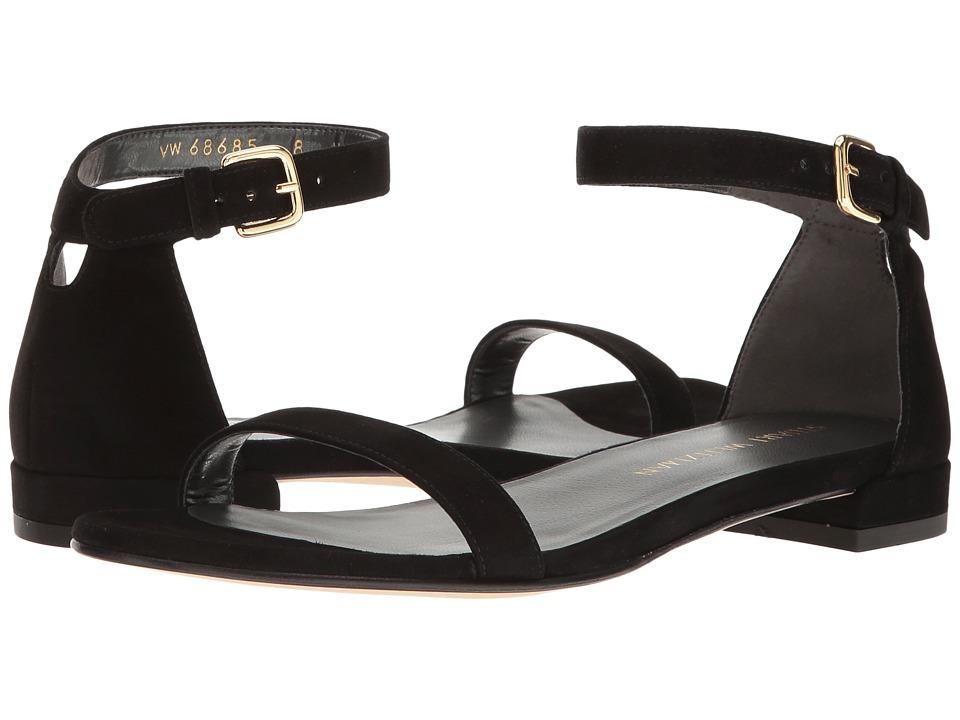 Stuart Weitzman - Nudistflat (Black Suede) Womens Shoes
