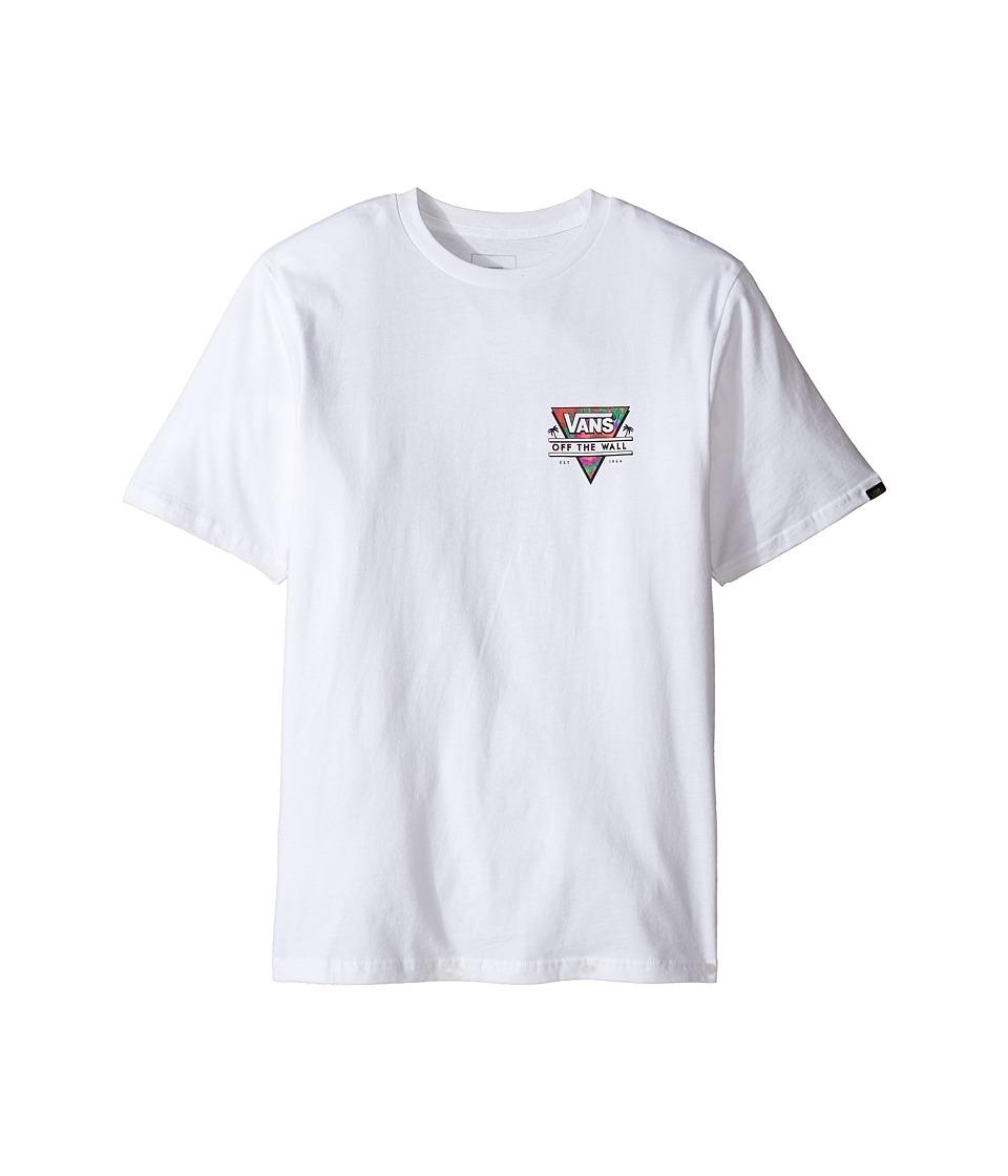 Vans Kids Retro Triangle Tee (Big Kids) (White) Boy