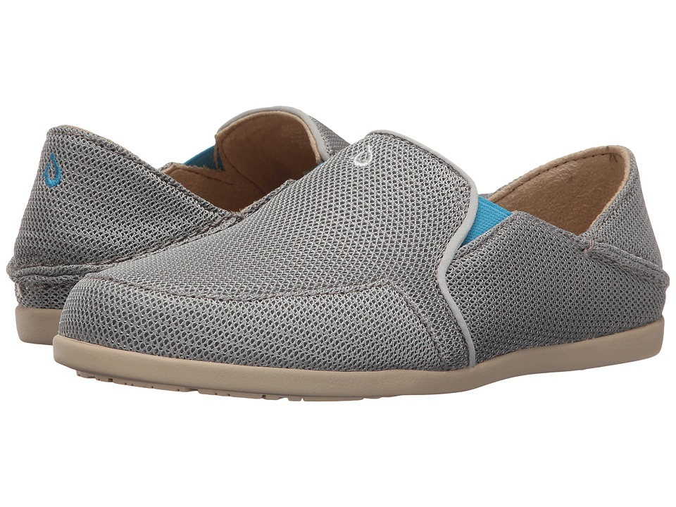 OluKai Waialua Mesh (Pale Grey/Tide Blue) Women