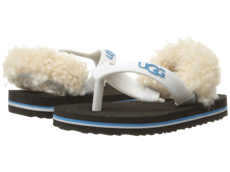 UGG Kids Yia Yia II Neon (Infant/Toddler) (White/Azul) Girls Shoes