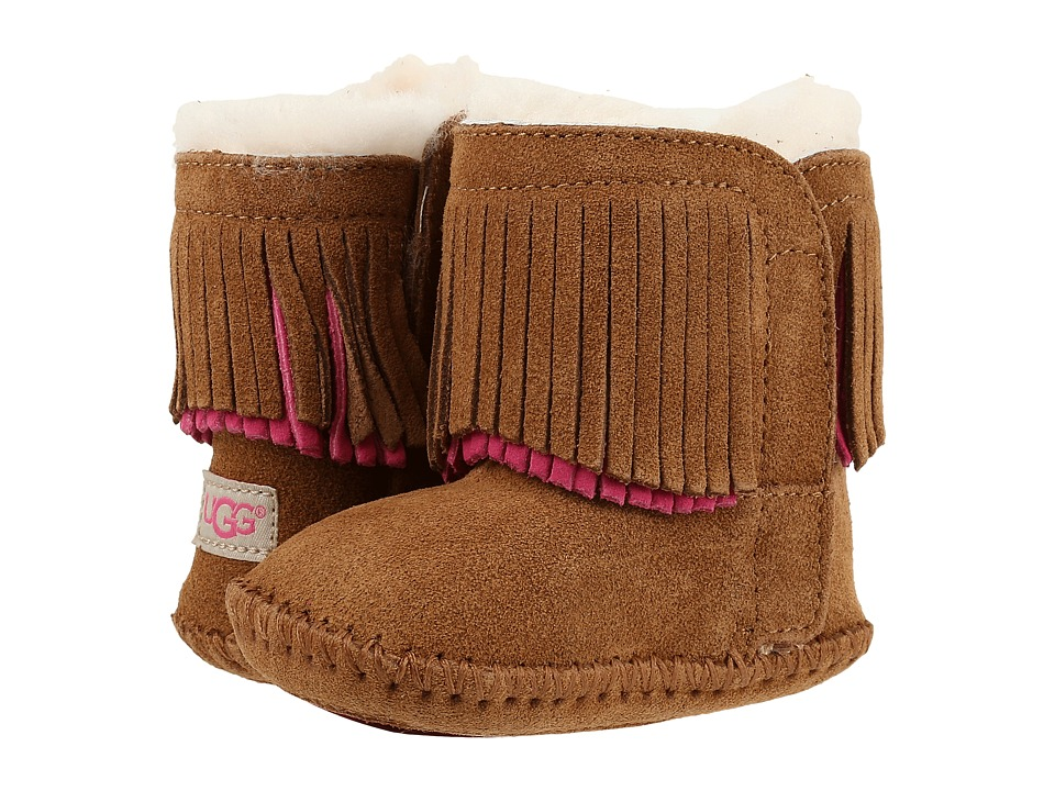 UGG Kids Branyon Fringe (Infant/Toddler) (Chestnut) Girls Shoes