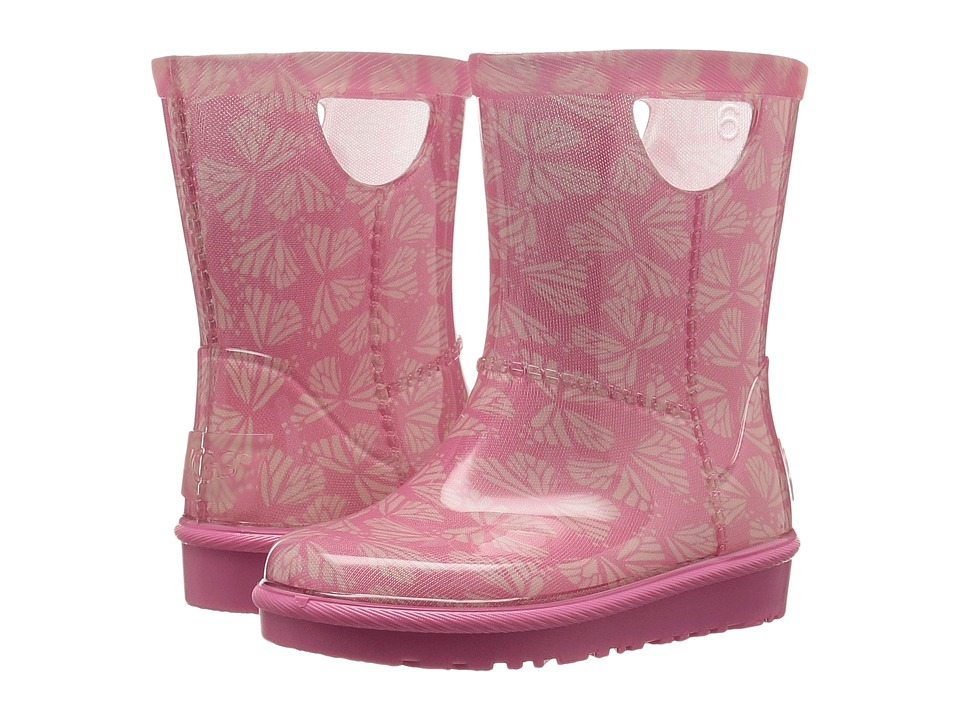 UGG Kids Rahjee Butterflies (Toddler/Little Kid) (Pink Azalea) Girls Shoes