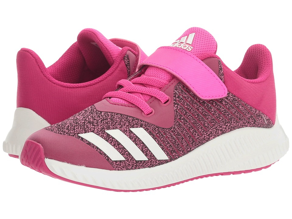adidas Kids FortaRun EL (Little Kid/Big Kid) (Bold Pink/White/Shock Pink) Girls Shoes