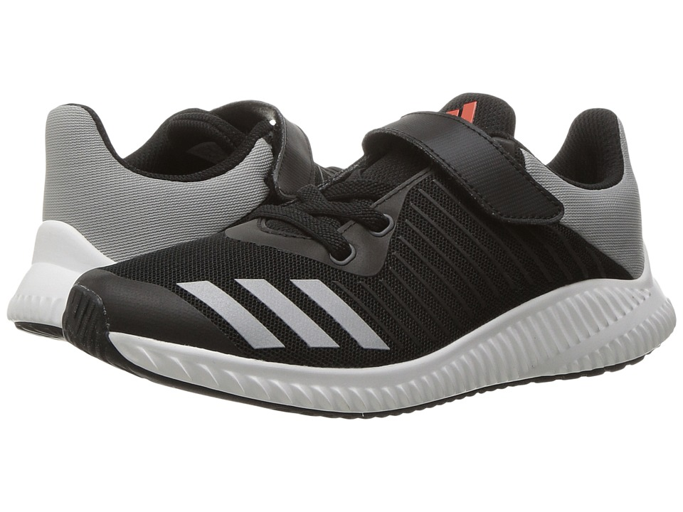 adidas Kids FortaRun EL (Little Kid/Big Kid) (Black/Energy/Silver) Boys Shoes