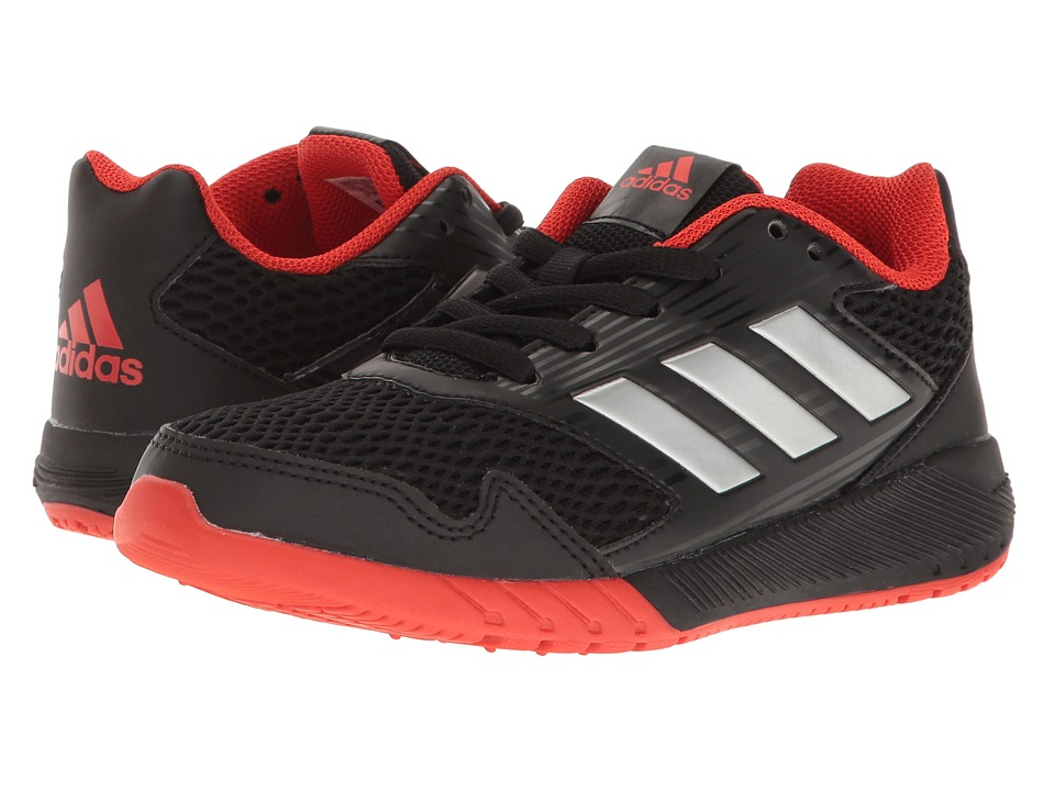 adidas Kids AltaRun (Little Kid/Big Kid) (Black/Silver/Red) Boys Shoes