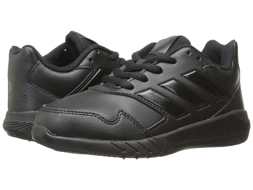adidas Kids AltaRun (Little Kid/Big Kid) (Black/Black/Grey) Kids Shoes