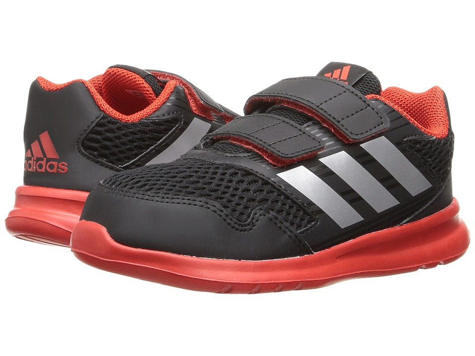 adidas Kids AltaRun (Toddler) (Core Black/Metallic Silver/Core Red) Boys Shoes