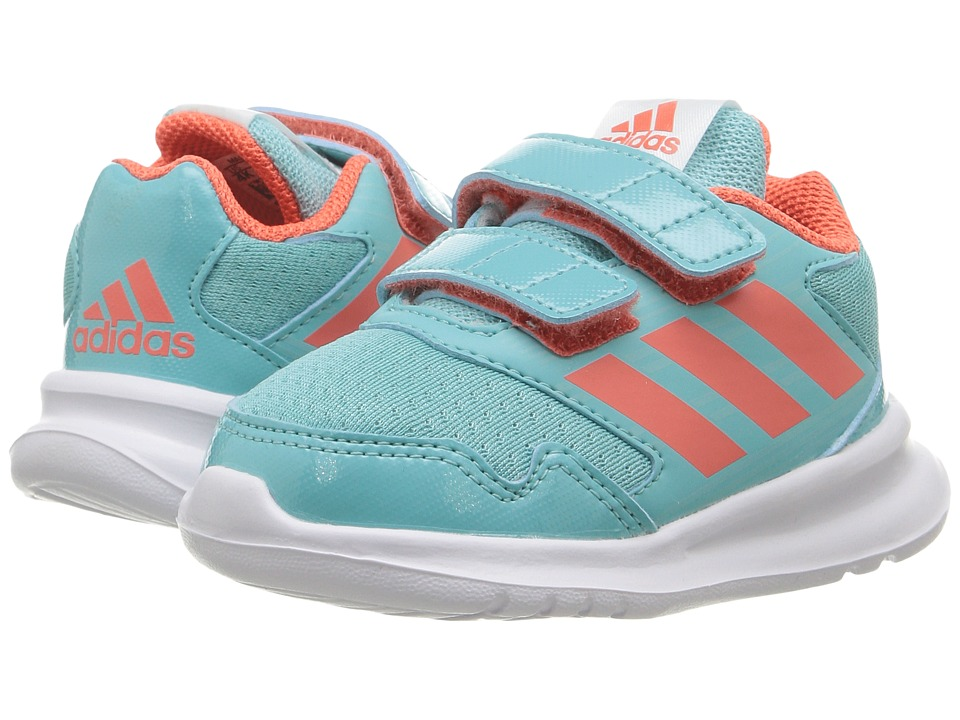 adidas Kids AltaRun (Toddler) (Clear Aqua/Easy Coral/Easy Mint) Girls Shoes