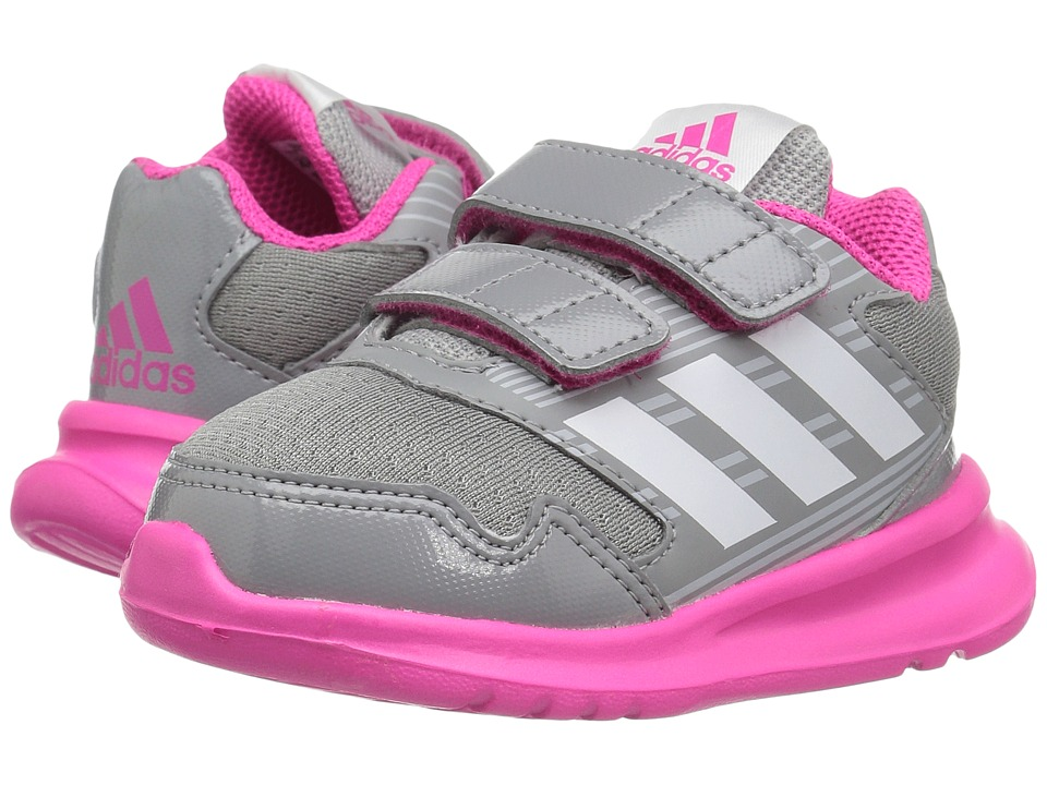 adidas Kids AltaRun (Toddler) (Clear Grey/Footwear White/Shock Pink) Girls Shoes
