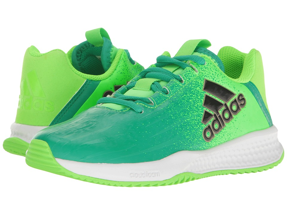 adidas Kids Turf Trainer (Little Kid/Big Kid) (Solar Green/Black/Green) Boys Shoes