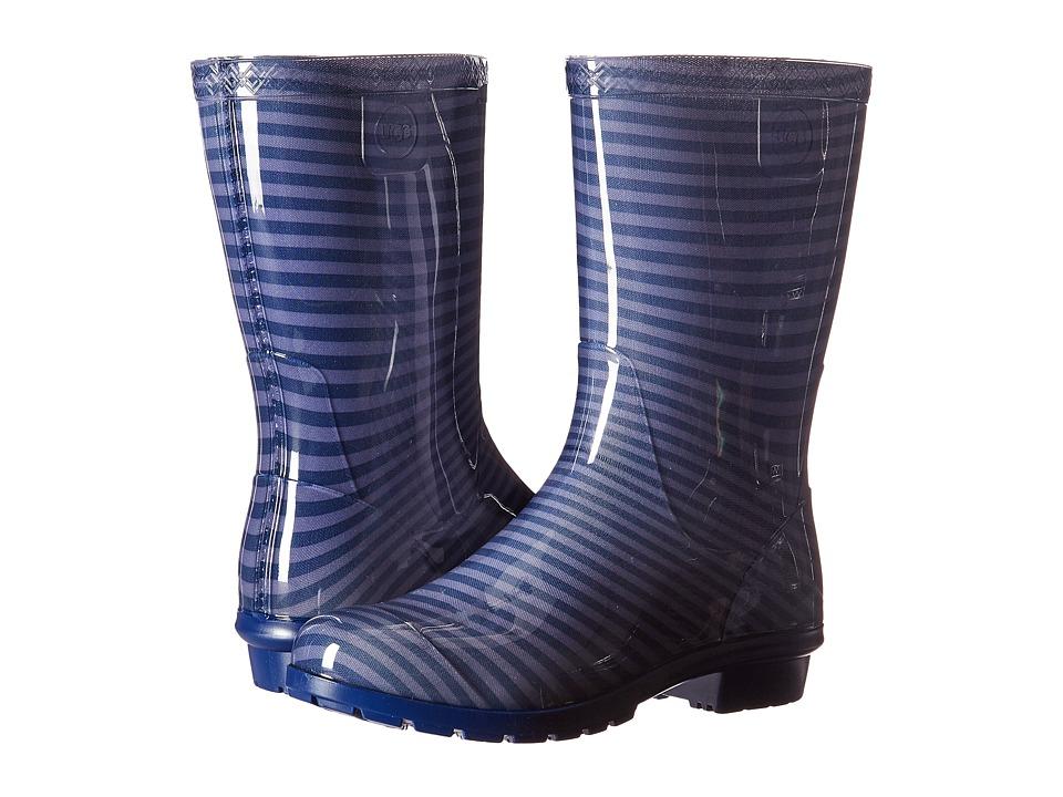 UGG Kids Raana Stripes (Little Kid/Big Kid) (Marino) Girls Shoes