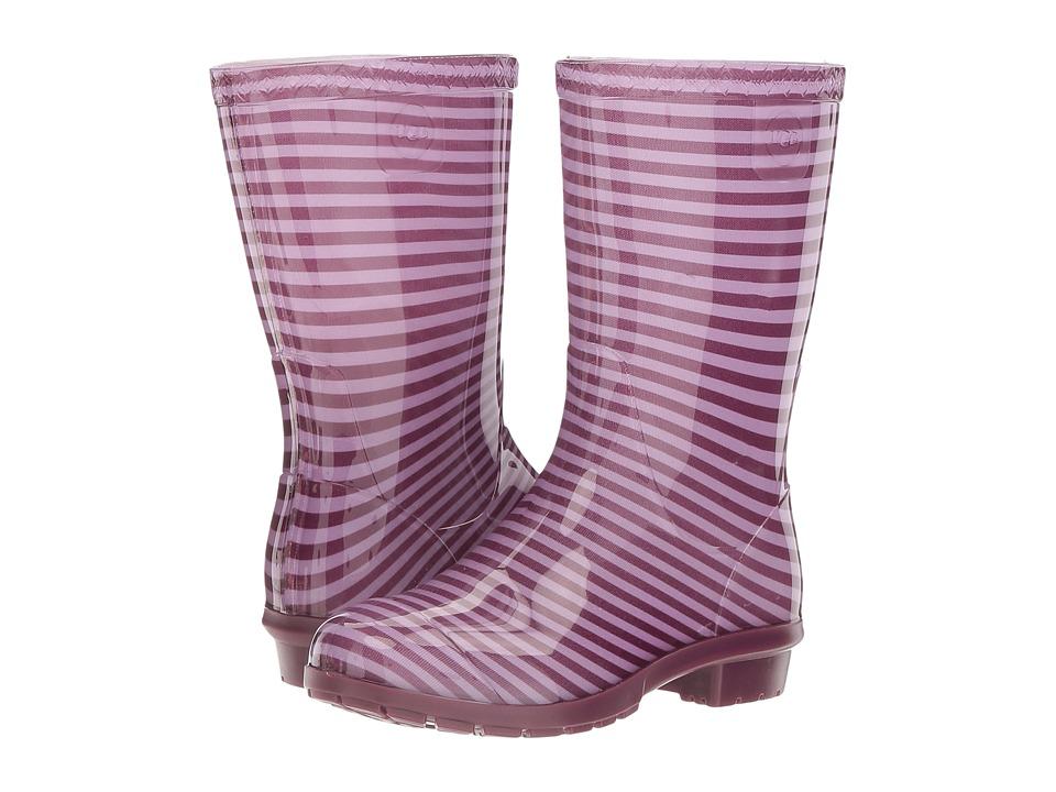 UGG Kids Raana Stripes (Little Kid/Big Kid) (Purple Passion) Girls Shoes