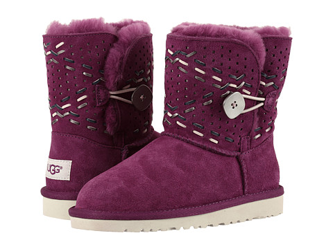 UGG Kids Bailey Button Tehuano (Little Kid/Big Kid) - Purple Passion