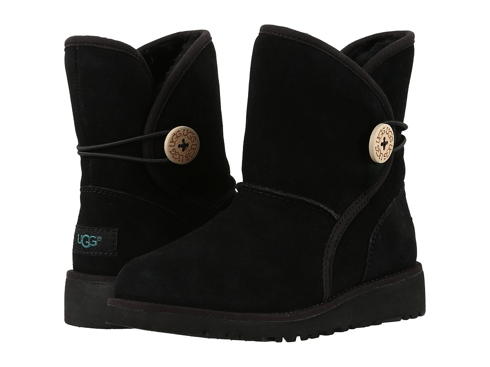 UGG Kids Fabian (Little Kid/Big Kid) (Black) Girls Shoes