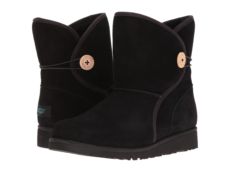 UGG Kids Fabian (Big Kid) (Black) Girls Shoes