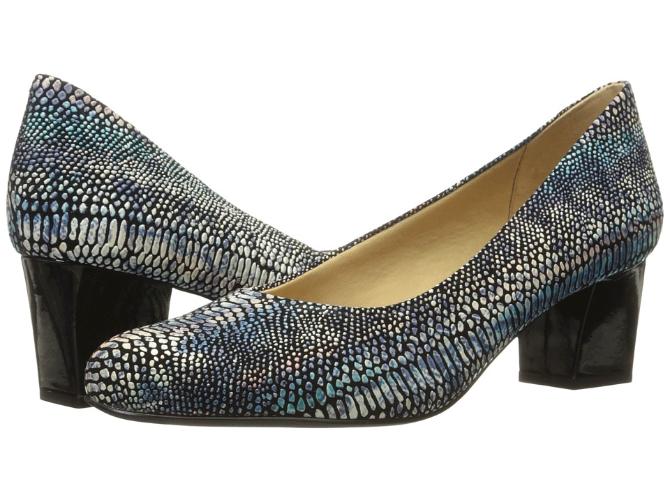 Trotters Candela (Dark Multi Lizard) High Heels