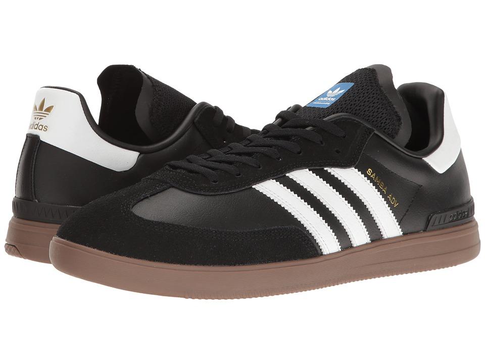 adidas Skateboarding - Samba ADV (Black/White/Gum) Mens Skate Shoes
