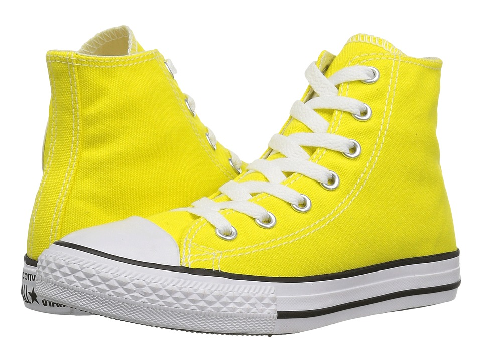 Converse Kids Chuck Taylor All Star Hi (Little Kid) (Fresh Yellow) Kids Shoes