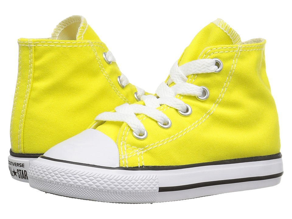 Converse Kids Chuck Taylor All Star Hi (Infant/Toddler) (Fresh Yellow) Kids Shoes