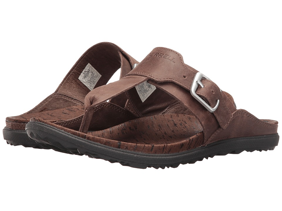Merrell - Around Town Post (Brown) Womens Sandals