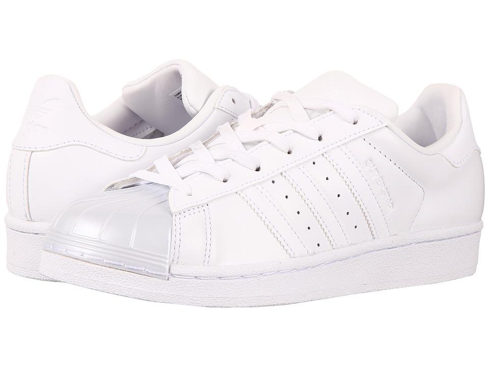 adidas Originals - Superstar Glossy Toe (Footwear White/Footwear White/Core Black) Womens Tennis Shoes