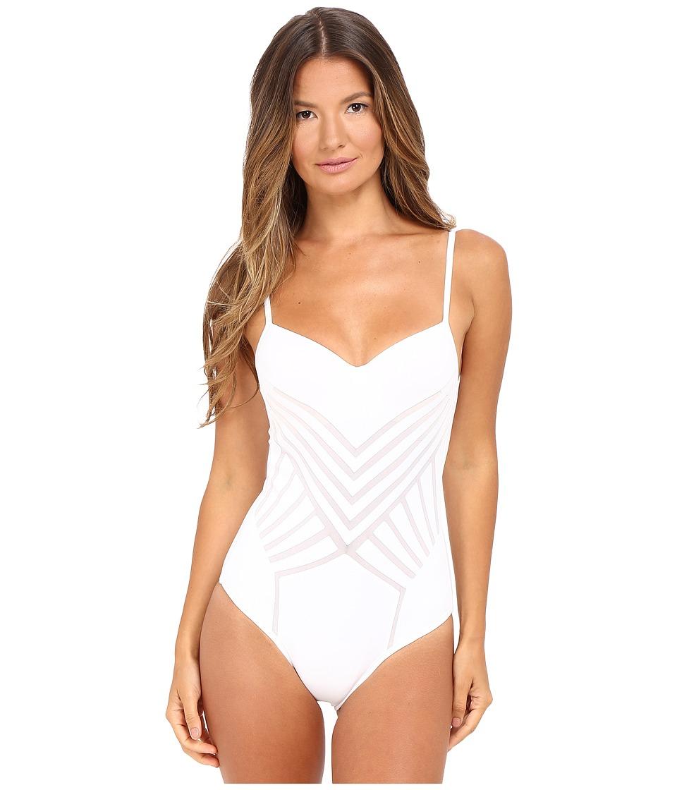 La Perla Dunes Underwire One-Piece (White) Women