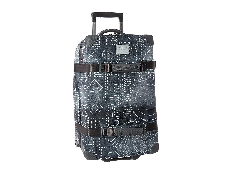 Burton Wheelie Cargo Travel Luggage (Bandotta Print) Luggage