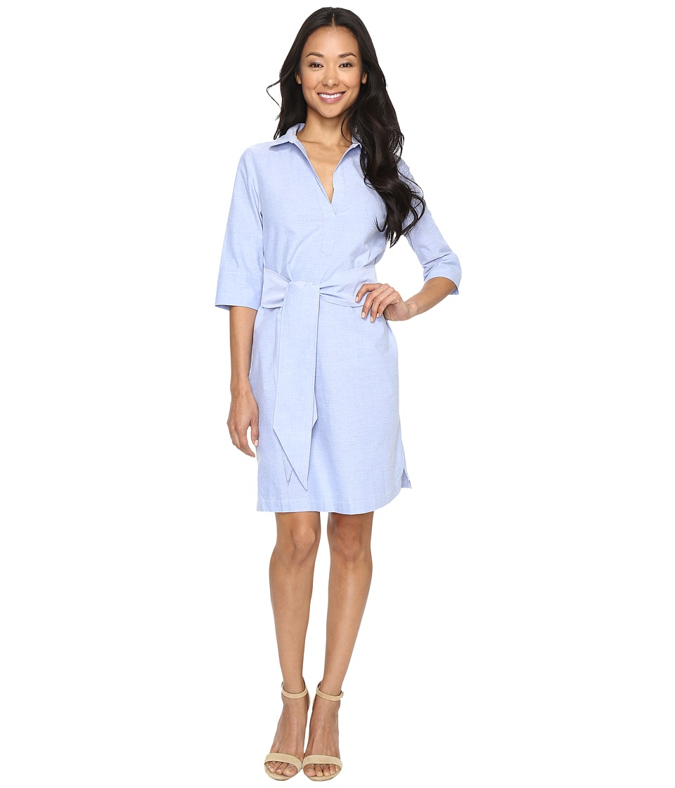 Lilla P Shirtdress with Belt (Sky) Women's Dress