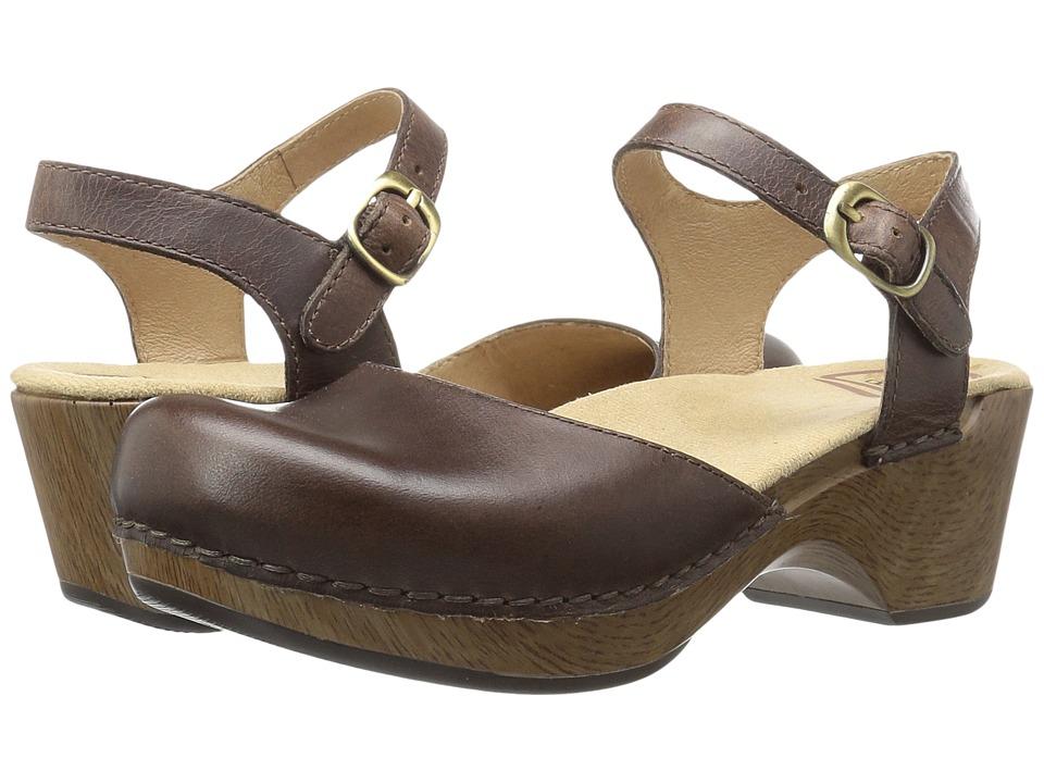Dansko Sam (Teak Vintage) Women's 1-2 inch heel Shoes