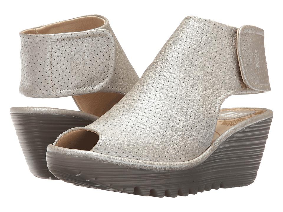 Fly London Yahl700Fly (Silver Borgogna) Women's Shoes