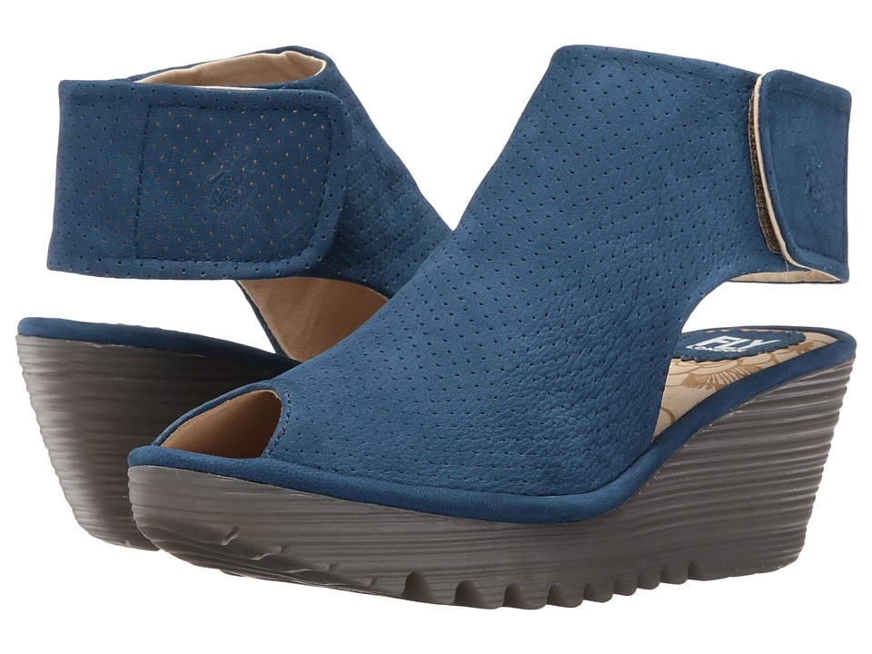 Fly London Yahl700Fly (Blue Cupido) Women's Shoes