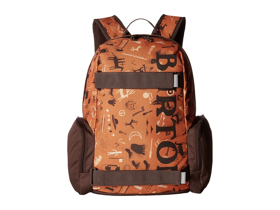 Burton Emphasis Pack (Little Kid/Big Kid) (Caveman Print) Backpack Bags