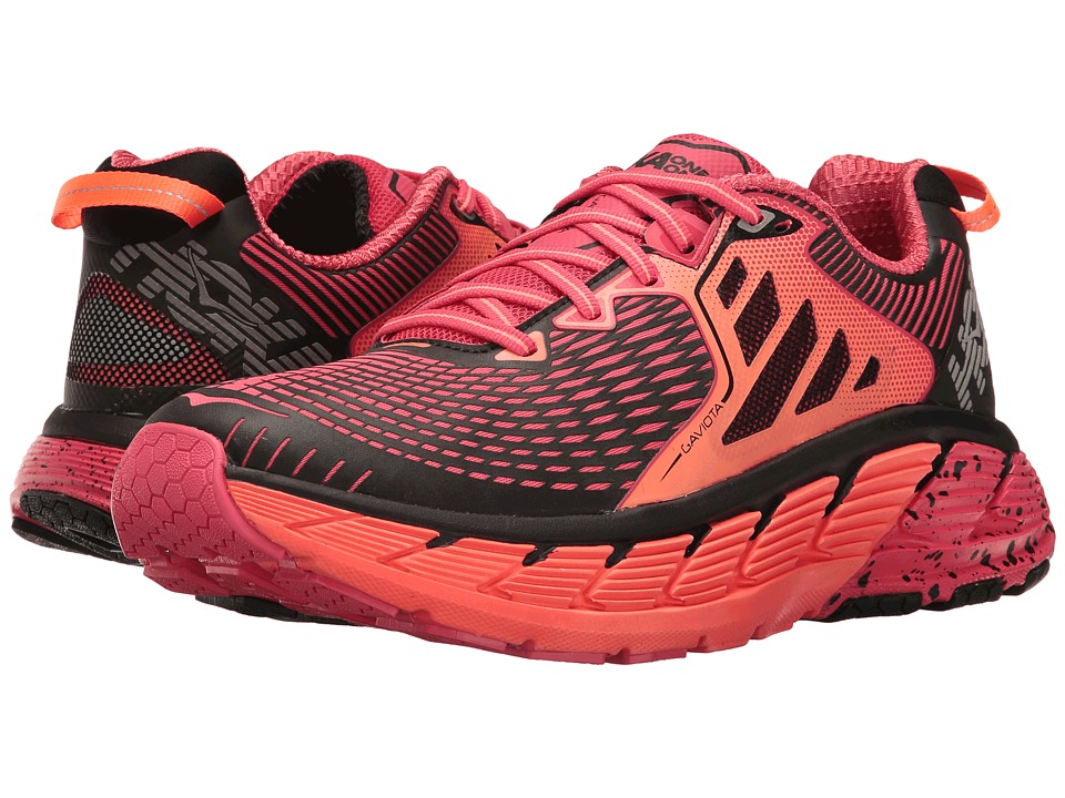 Hoka One One Gaviota (Paradise Pink/Neon Coral) Women's Running Shoes