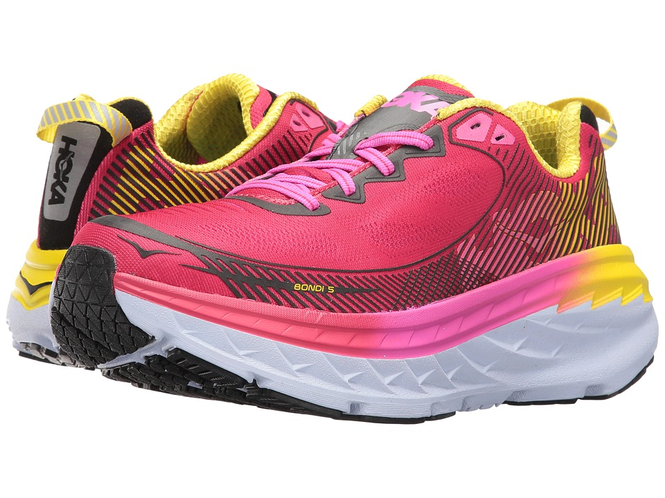 Hoka One One Bondi 5 (Virtual Pink/Blazing Yellow) Women