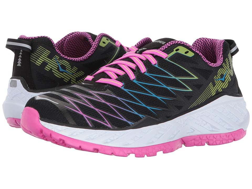 Hoka One One Clayton 2 (Black/Fuchsia/Green Glow) Women