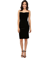 Laundry by Shelli Segal - Stretch Velvet Shirred Cocktail Dress