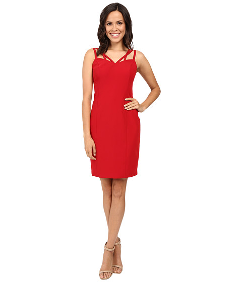 Laundry by Shelli Segal Fitted Strappy Sheath with Weaving Detail