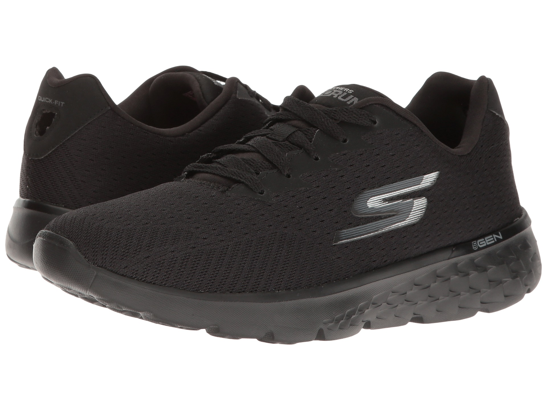 all black skechers