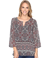 Stetson - Gypsy Border Chiffon Peasant Top