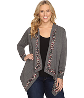 Stetson - Plus Size Heather Charcoal Rayon Cardigan