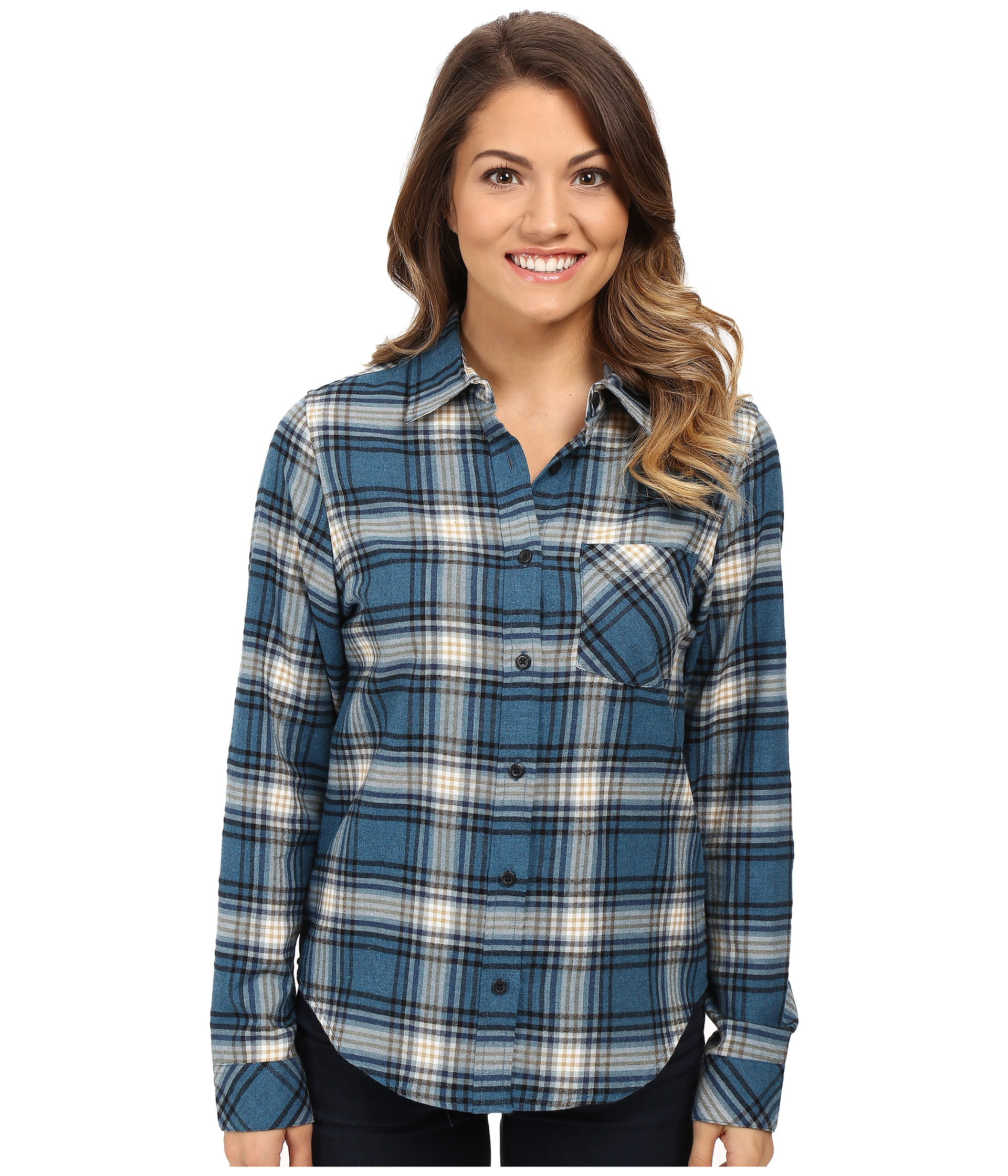 Pendleton petite frankie flannel shirt night sky heather for Athletic cut flannel shirts