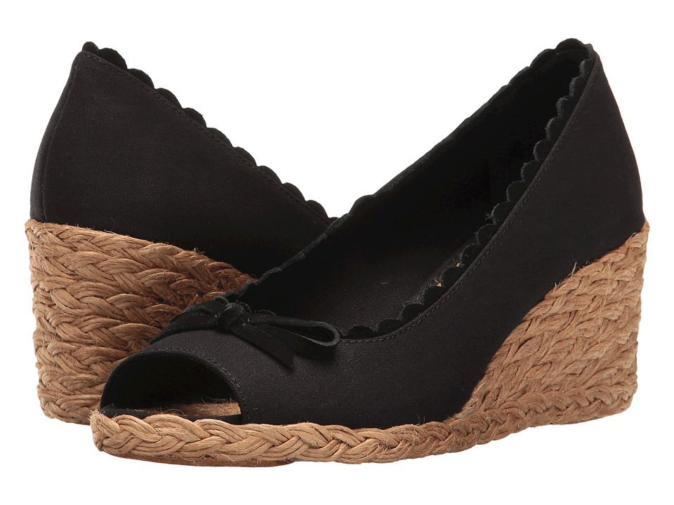 Retro Sandal History: Vintage and New Style Shoes LAUREN Ralph Lauren - Chaning Black Womens Wedge Shoes $69.00 AT vintagedancer.com