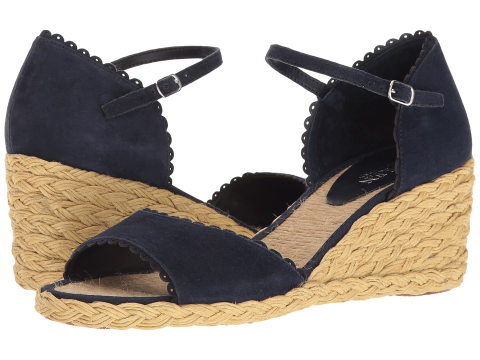 Retro Sandal History: Vintage and New Style Shoes LAUREN Ralph Lauren - Chrissie Modern Navy Womens Shoes $79.00 AT vintagedancer.com