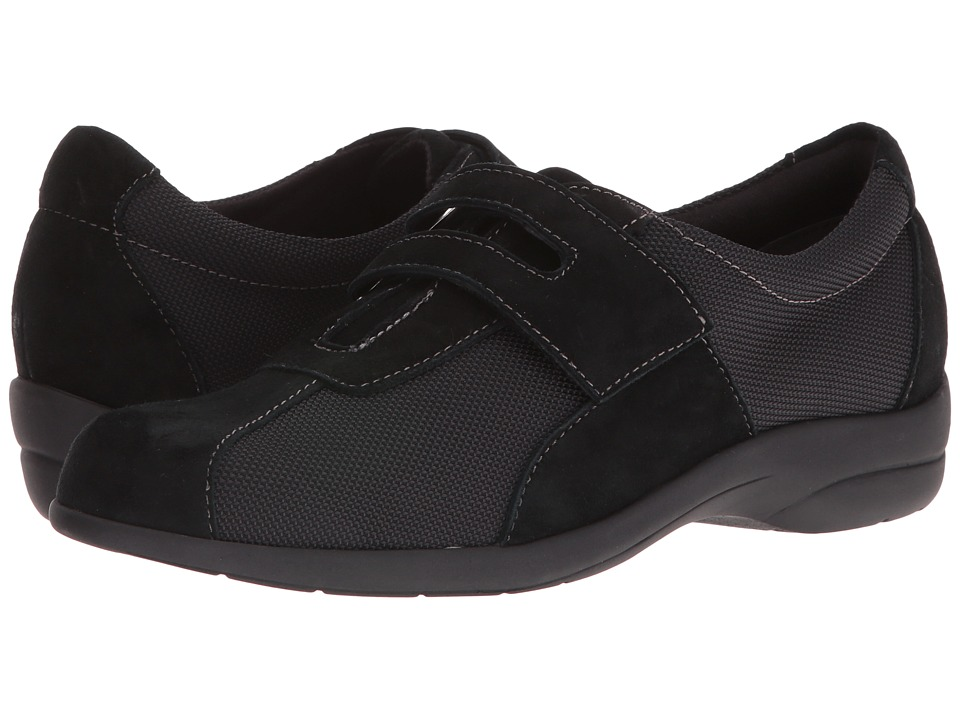MUNRO Joliet (Black Fabric/Kid Suede) Women's  Shoes