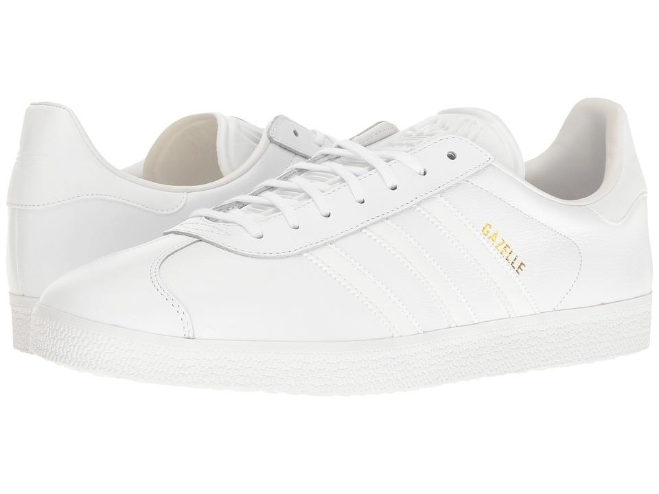 adidas Originals Gazelle Tonal Leather (Footwear White/Footwear White/Gold Metallic) Men