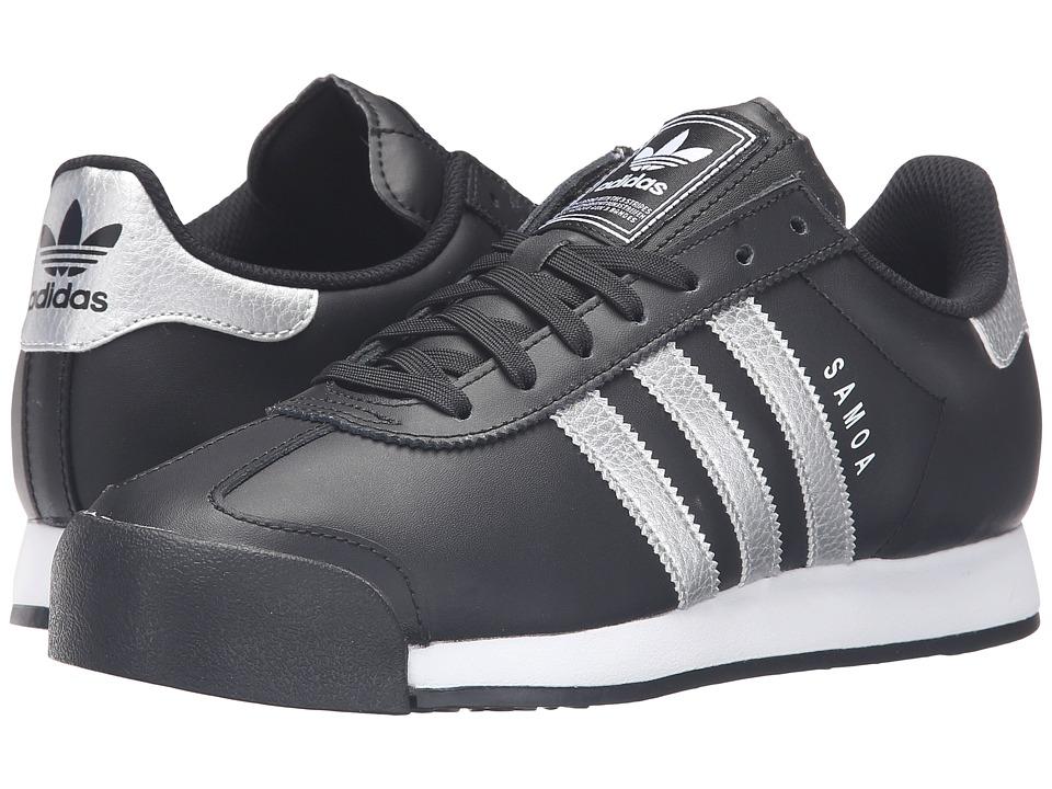 adidas Originals Samoa Leather (Core Black/Silver Metallic/White) Men