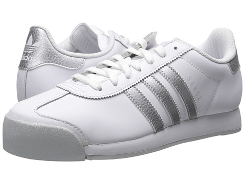 adidas Originals Samoa Leather - Footwear White/Silver Metallic/Clear Grey