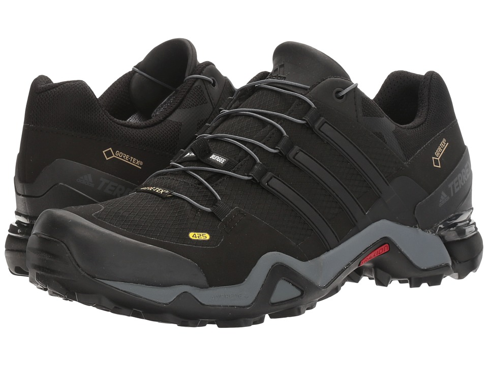 adidas Outdoor - Terrex Fast R GTX (Black/Black/White) Mens Shoes